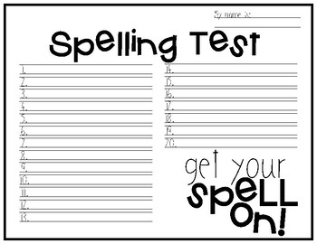Spelling Test Paper [Handlettered Quotes Edition!]