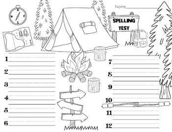 Spelling Test Paper // Into the Woods!