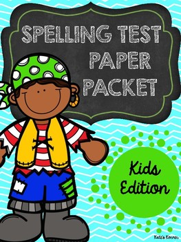 Spelling Test Paper: Kid Edition