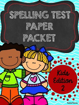 Spelling Test Paper: Kids Edition 2