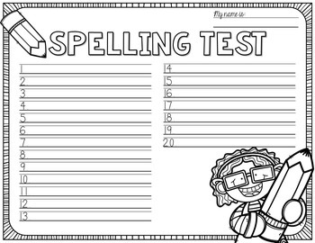 Spelling Test Paper [MEGA BUNDLE!]