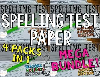 Spelling Test Paper [MEGA BUNDLE!]