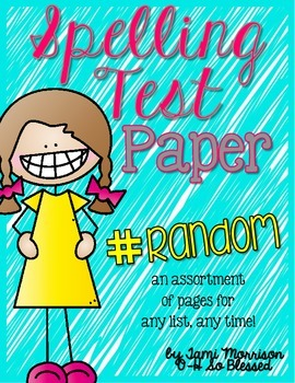 Spelling Test Paper Pack [a random assortment!]