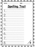 Spelling Test Paper for Primary Grades