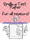 Spelling Test Paper for all seasons