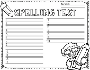 Spelling Test Paper [school subjects edition!]