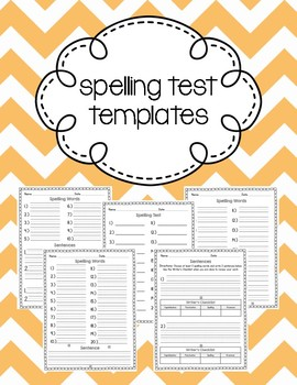 Spelling Test Paper with Sentences & Writer's Checklist