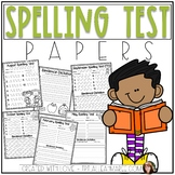 Spelling Test Papers