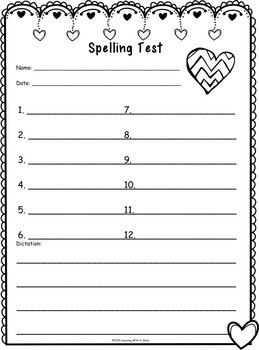 Spelling Test Papers for HOLIDAYS: Primary Grades (12 Words/1 Sentence Version)