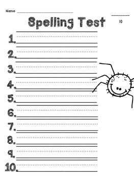 Spelling Test & Pretest {Month by Month}