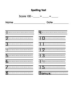 Spelling Test-Pretest-Practice Bundle