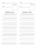 Spelling Test --Primary Lines--