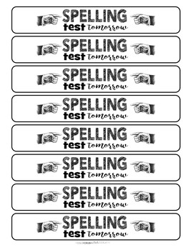 Spelling Test Reminder Bracelets