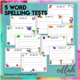 Spelling Test Sheets (5 Word Test)