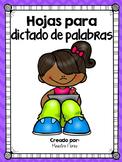 Spelling Test Spanish/Prueba de ortografia/ Dictado de palabras