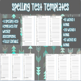 Spelling Test Templates. 20 words and 15 words plus bonus