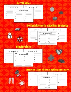 Spelling Test Templates - Monthly