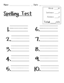 Spelling Test Template Pack