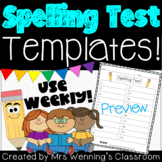 Spelling Test Template (up to 20 words)