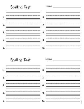 Delightful Spelling Test Template With Dictation Sentences