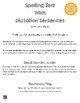 Spelling Test Template with Dictation Sentences