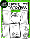 Spelling Test Templates 36 total pages{Texas Twist Scribbles}