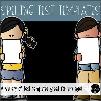 Spelling Test Templates