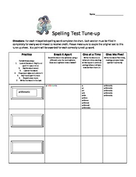 Spelling Test Tune-Up