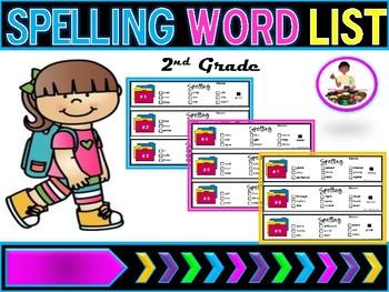 Spelling Lists  Week 1-30 (2nd Grade Words)
