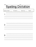 Spelling Test and Dictation Form