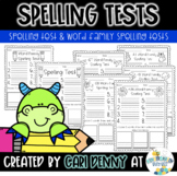 Spelling Tests & Word Family Spelling Tests
