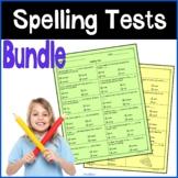 4th grade Spelling Tests Bundle