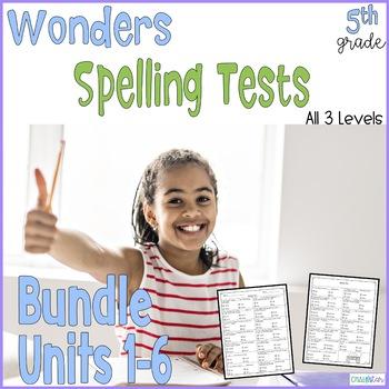 Wonders Spelling Tests Bundle