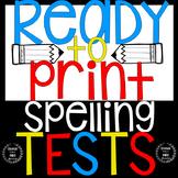 Spelling Test Templates Editable