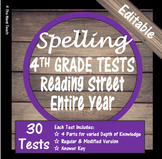 Spelling Tests Reading Street 4th Grade