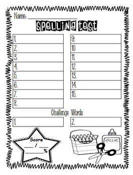 Spelling Tests - Year Round - 3 Varieties