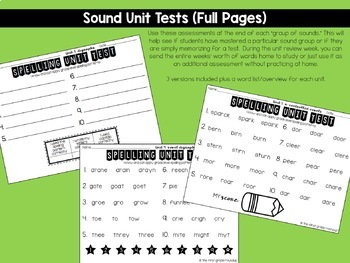 Spelling Tests for 1st Grade {Year Long!}