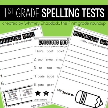 Spelling Tests for 1st Grade for the Entire Year