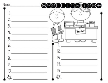 Spelling Tests for the Year!