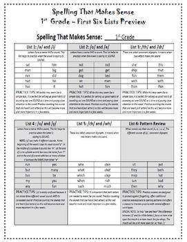 Spelling That Makes Sense Word Study Program - 1st Grade
