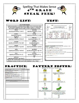 Spelling That Makes Sense Word Study Program - 4th Grade