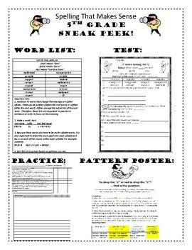 Spelling That Makes Sense Word Study Program - 5th Grade