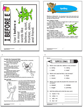 3rd Grade Spelling Activities, Lesson + NINE Posters, and FULL COLOR Game