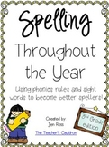 Spelling Throughout the Year: Phonics and sight words {Grade 3}