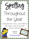 Spelling Throughout the Year: Phonics, word families, and sight words {Grade 1}