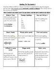 Spelling Tic Tac Board