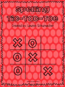 Spelling Tic Tac Toe!