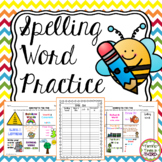 Spelling Word Practice: Tic-Tac-Toe Boards, Activities, & Lists