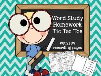 Spell it! Word Study Tic Tac Toe