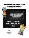 Spelling Tic-Tac-Toe